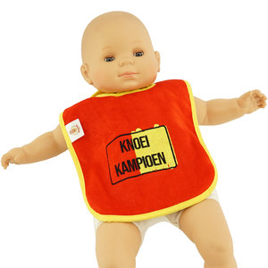 Baby bib Knoei Kampioen