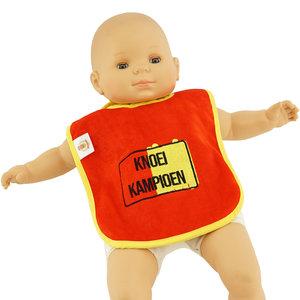 Baby slabbetje Knoei Kampioen