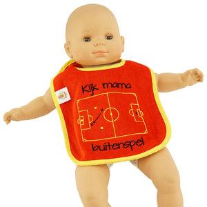 Baby bib Kijk mama Buitenspel