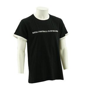 T-shirt zwart wit ringer retro RFCM