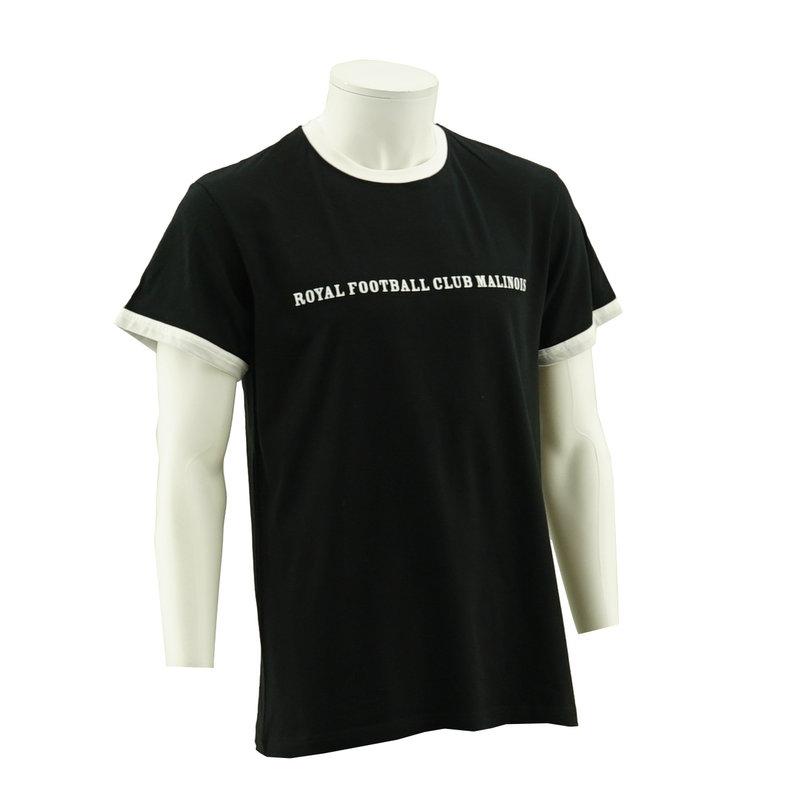Topfanz T-shirt zwart wit ringer retro RFCM