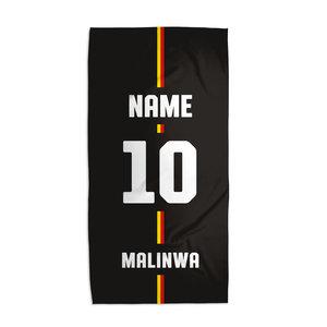 Handdoek zwart MALINWA