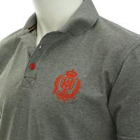 Topfanz Polo gris logo rouge