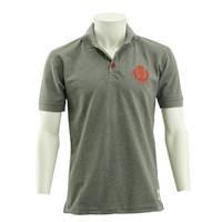 Topfanz Polo grijs logo rood
