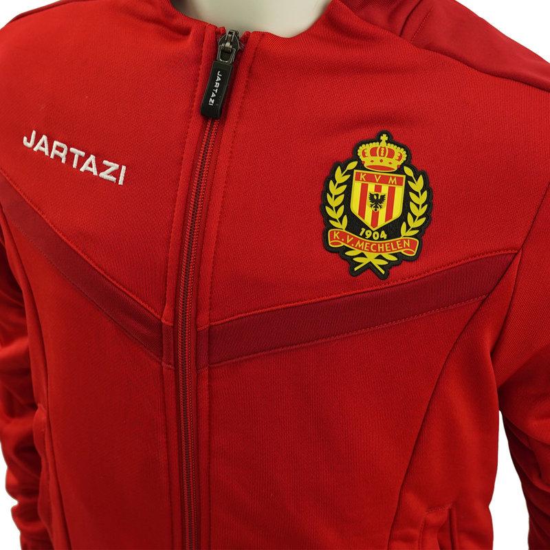Jartazi Torino Poly Terry Jacket JR Red/Dark Red