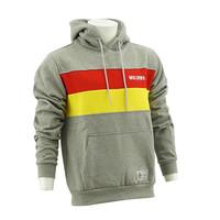Topfanz Hoodie gris - jaune/rouge lignes