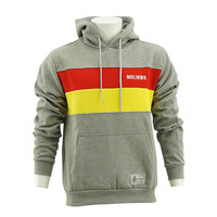 Topfanz Hoodie grey - yellow/red lines