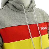 Topfanz Hoodie grijs - geel/rode strepen