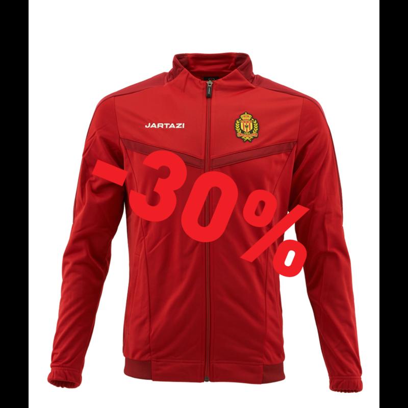 Jartazi Torino Poly Training Jacket SR Red/Dark Red
