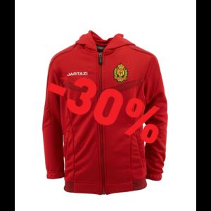 Torino Hooded Jacket JR Red/Dark Red