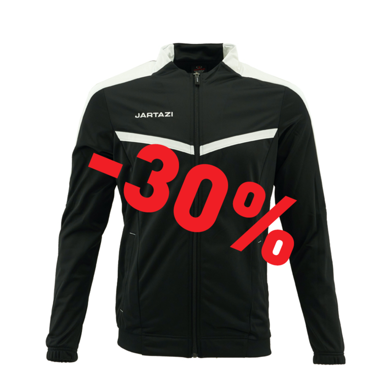 Jartazi Torino Poly Training Jacket SR Black/White