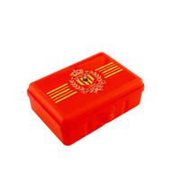 Topfanz Lunchbox rood Logo gele strepen