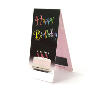 Magnetic Bookmark, Happy Birthday, with cake