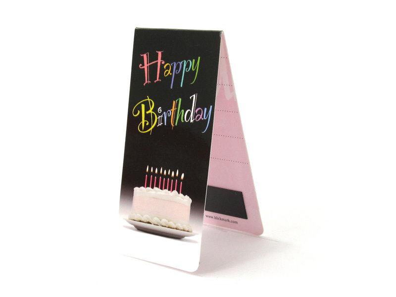 Marcador magnético, feliz cumpleaños con pastel