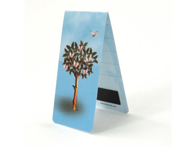 Marque-page magnétique, arbre aux papillons