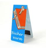 Magnetische Boekenlegger, Bucherwurm