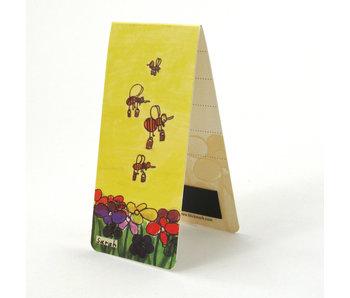 Marque-page magnétique, abeilles