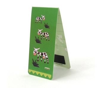 Signet magnétique, vaches, illustration