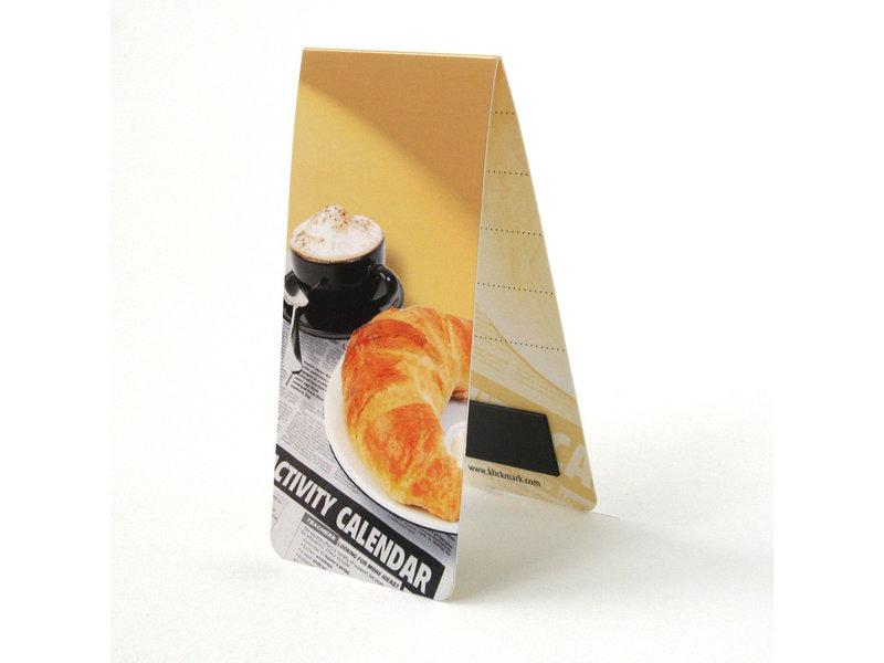 Marque-page magnétique, petit déjeuner, croissant