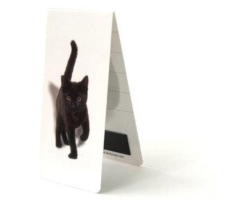 Marcagpaginas magnético, gatito, coño, negro