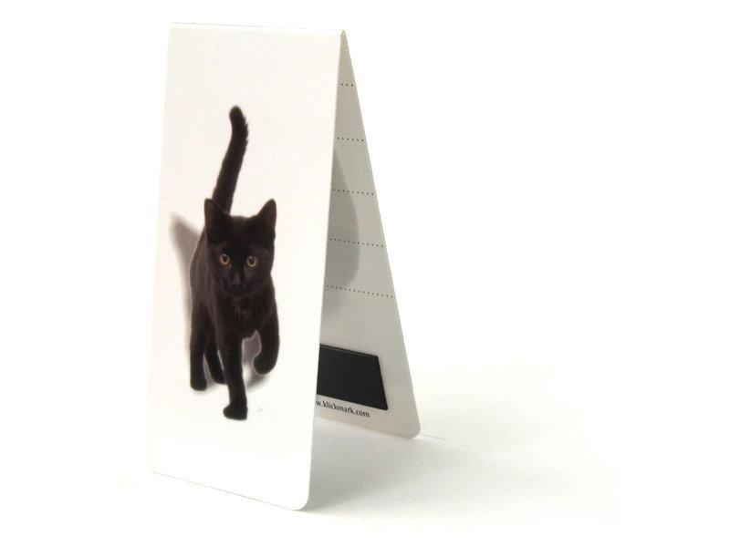Marque-page magnétique, chaton, chatte, noir