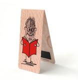 Magnetische Boekenlegger, Mr Thumb leest