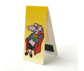 Magnetic Bookmark, Reading Rat