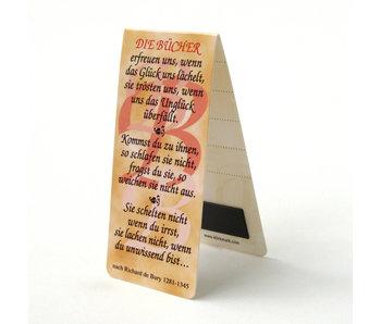 Magnetic Bookmark, German Quote, R. de Bury