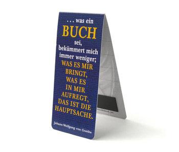 Magnetic Bookmark, German quote, J.W. von Goethe