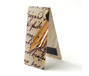 Marque-page magnétique, stylo plume