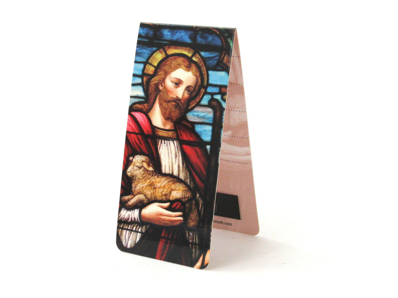 Magnetic Bookmark, The Good Shepherd, Stained Glass