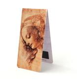 Marque-page magnétique, Da Vinci, visage de femme