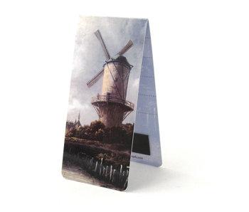 Marque-page magnétique, J. van Ruisdael, moulin à vent
