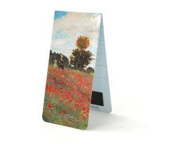 Marcador magnético, Claude Monet, campo de amapolas