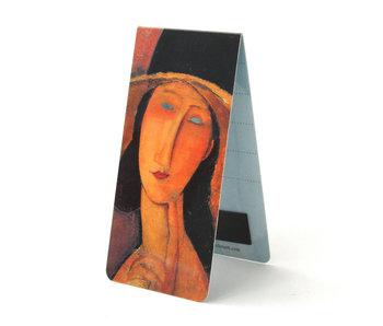 Marque-page magnétique, A. Modigliani, femme au chapeau
