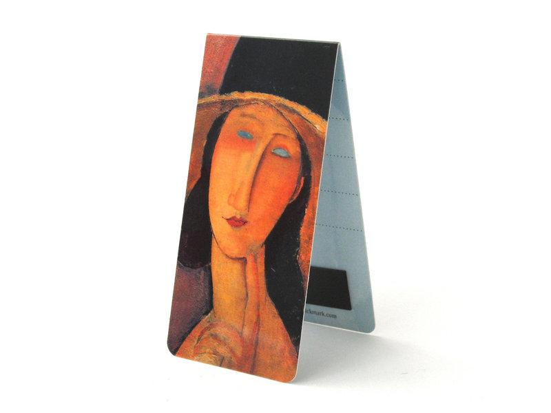 Magnetische Boekenlegger, A. Modigliani, Vrouw met hoed