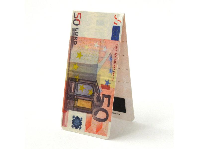 Magnetische Boekenlegger, 50 Euro Biljet