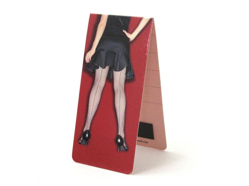 Marque-page magnétique, jambes de femme