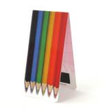 Marcador magnético, lápices de colores
