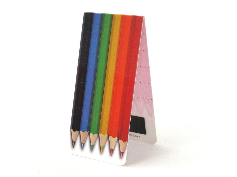 Marque-page magnétique, crayons de couleur