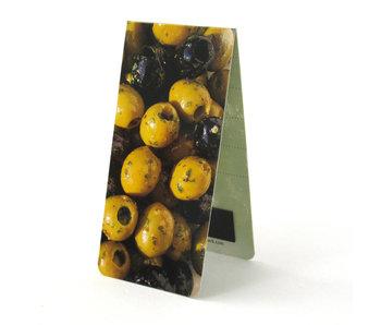 Marcador magnético, aceitunas verdes
