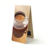 Marcapaginas magnético, taza de café
