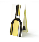 Marcador magnético, botella de vino blanco