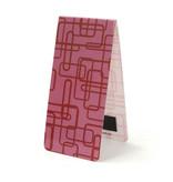 Marcador magnético, decoración retro rosa