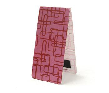 Magnetisches Lesezeichen, Retro Dekor rosa