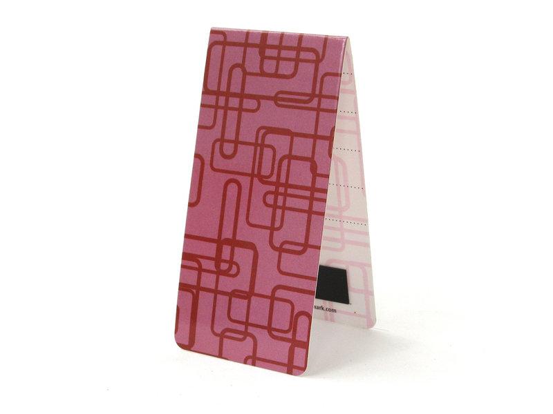 Marque-page magnétique, décor rétro rose