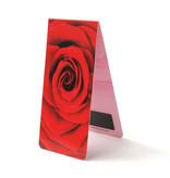Magnetisches Lesezeichen, rote Rose