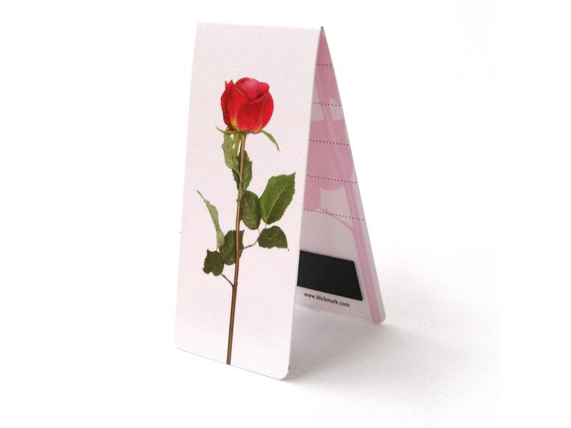 Marque-page magnétique, Rose