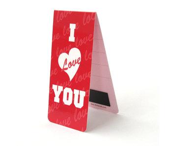 Magnetisches Lesezeichen, ich liebe dich