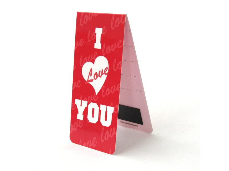 Marque-page magnétique, je t'aime